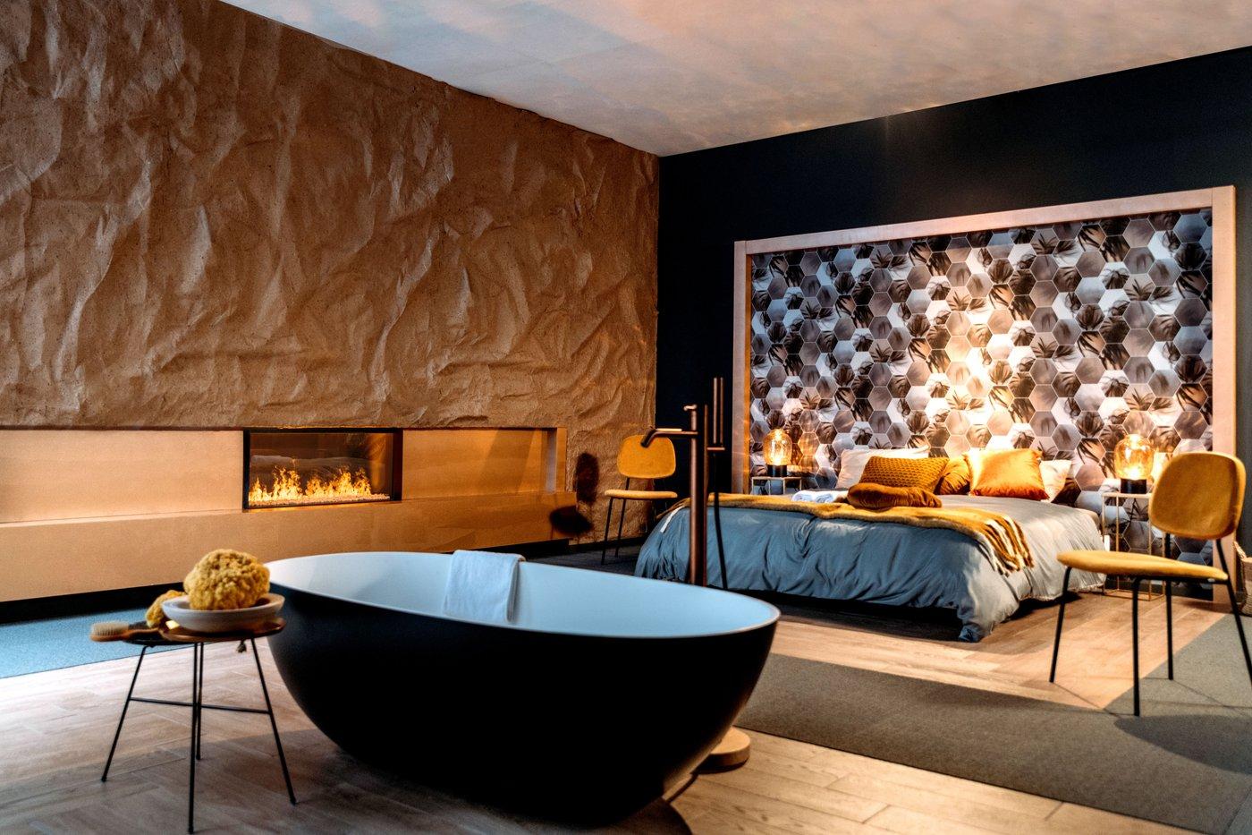 Elektrische haard Faber slaapkamer